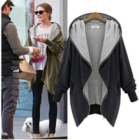 New Arrival Women Fashion Cotton Warm Loose Hoodie Zipper Sweatshirts Casual Coat Hot Sale Plus Size Free Shipping