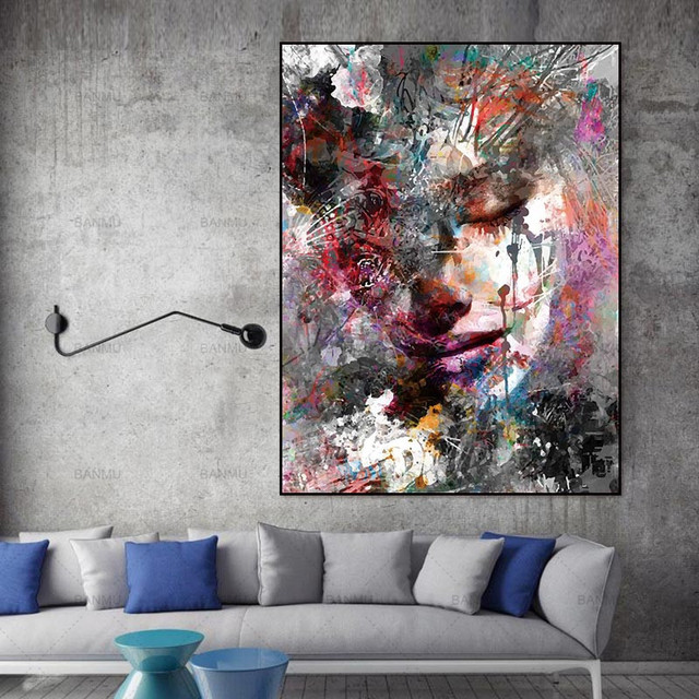 Canvas Painting Wall Art Pictures Prints Colorful On No Frame Home Poster