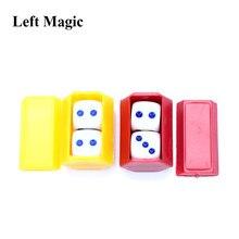 Escuchando predicción de dados dado de magia juguetes cerca de trucos de magia ilusión mentalismo truco de magia niños juguete