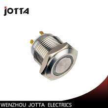 GQ16F-10E/J 16mm LED light ring lamp type metal push button switch with Flat round цена
