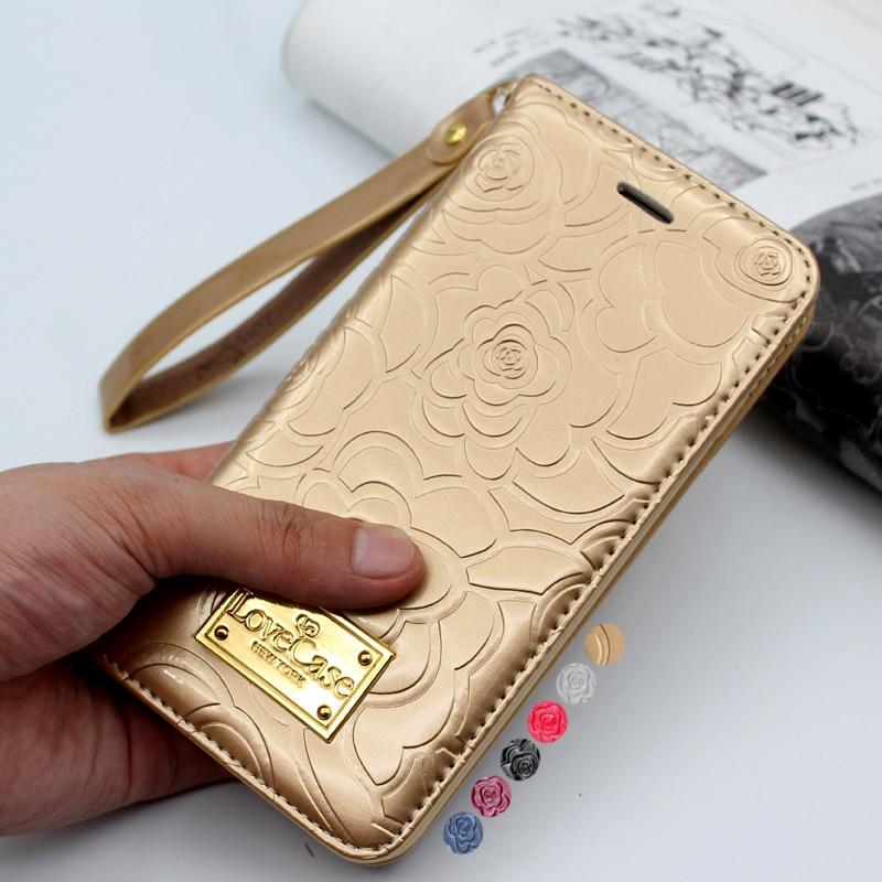 Último Camelia cartera flip de cuero caso para iPhone X 6 S 8 iPhone 7 Xs Max de cuero genuino casos de la cubierta de la bolsa