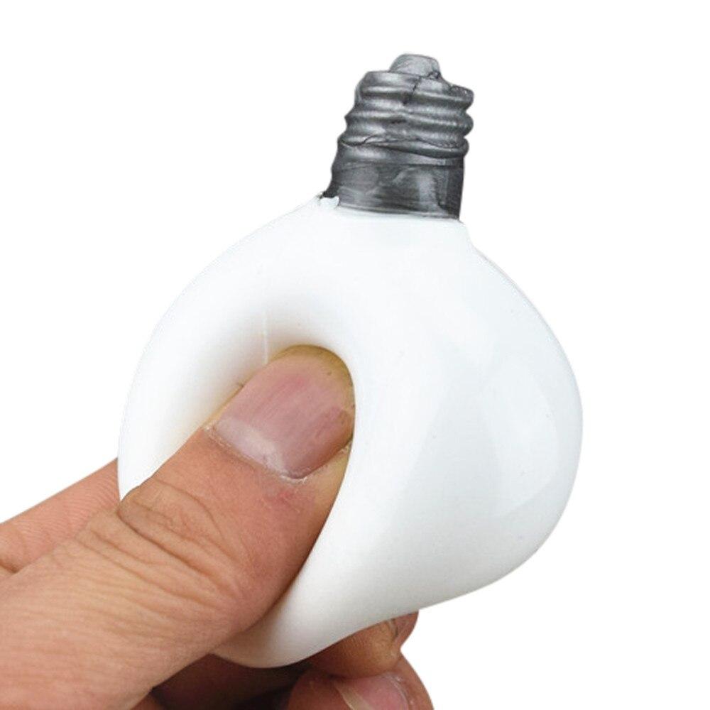 MUQGEW Elastic Environmentally PU Squishy Super Slow Rising Stress Stretch Toy Bulb Decompression Soft Novelty Toy Magia W06
