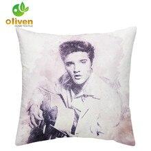 Celebrity Portrait Cushion Cover Elvis Presley Michael Jackson Print Pillow Cover Living Room Decoration Throw Pillow Case D15 цена