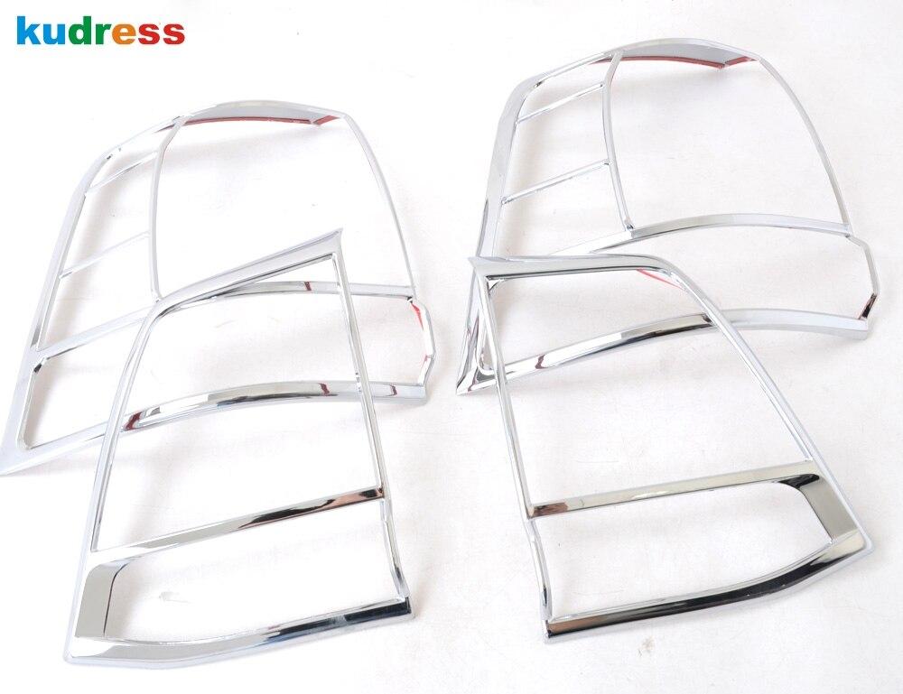 Pour Toyota Land Cruiser J200 LC200 2008 2009 2010 2011 Chrome feux arrière couvercle feu arrière garniture autocollant voiture style accessoires