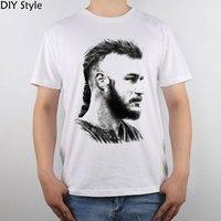Ragnar Lothbrok Vikings Ragnar Lodbrok Pop Art Vikings T Shirt Top Pure Cotton Men T Shirt