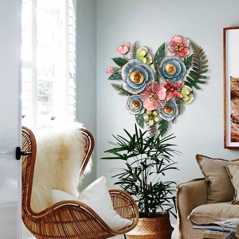 Гостиная подвесной цветочный настенный Декор для дома цветок полый ремесло Трехмерная структура личность Фреска орнамент - 4