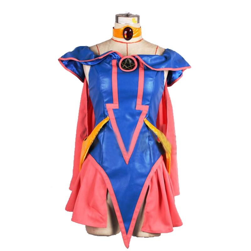 Duel Monstres zexal Kaiba Seto Yu-gi-oh! Costume de Cosplay de fille de magicien sombre de Yu Gi avec chapeau et gants
