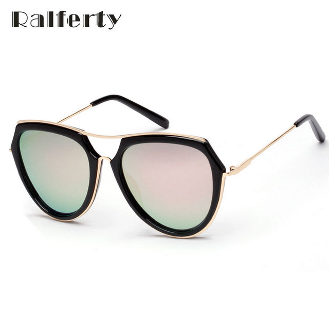 aed1dea5d0 Ralferty Retro Polarized Sunglasses Women Mirrored Polaroid Sun Glasses  UV400 Outdoor Sport Goggles Shades Oculos lunette