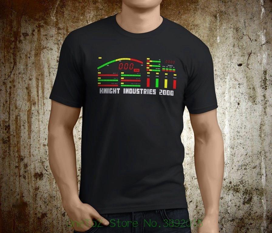 Cheap Sale 100 % Cotton New Popular Knight Rider Kitt Dashboard Retro Men S Black T-shirt Size S - 3xl