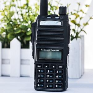 Image 5 - Baofeng UV 82 Walkie Talkie Dual PTT UV 82 Portable Two way Radio VHF UHF Ham CB Radio Station 1Pcs UV82 Jagd Transceiver