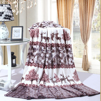 HOT Bright Stars Blanket Bedspread High Density Super Soft Flannel Blanket To On For The Sofa