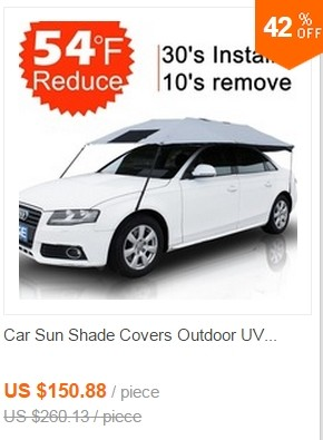 Car sun shade cover