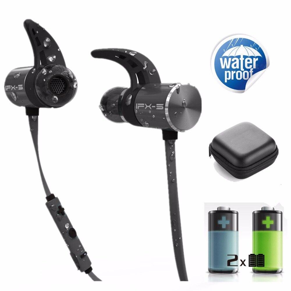 PLEXTONE BX343 double batterie V4.1 magnétique sans fil bluetooth écouteurs sport casque étanche endurance en métal musique headphon