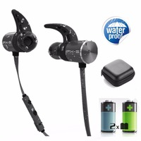 PLEXTONE BX343 Double Battery V4 1 Magnetic Wireless Bluetooth Earphone Sport Waterproof Headset Endurance Metal Music