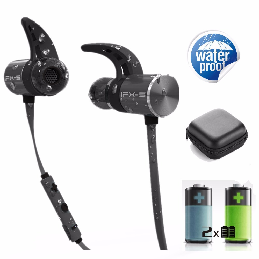 PLEXTONE BX343 double battery V4.1 magnetic wireless bluetooth earphone sport waterproof headset endurance metal music headphon