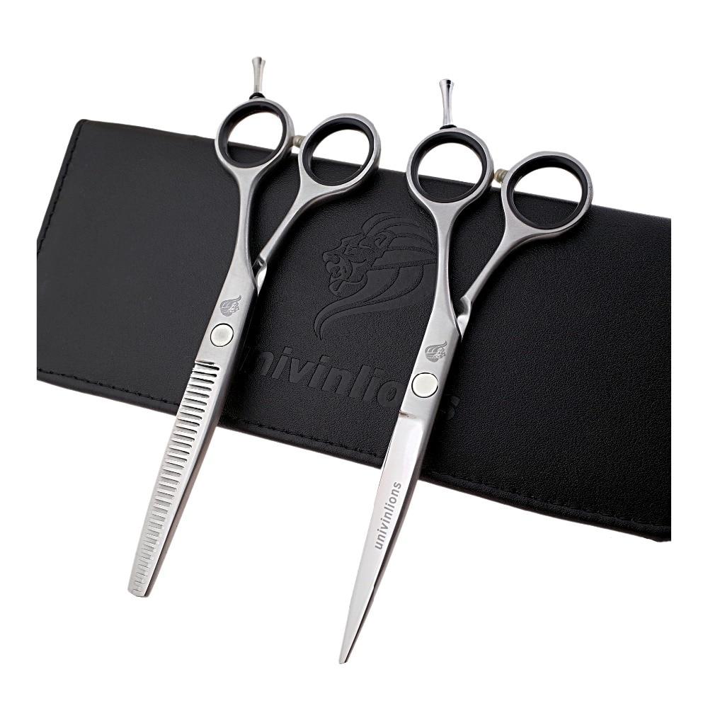Univinlions 5 режущие ножницы 5,5 филировочные ножницы Япония Ножницы для волос Парикмахерские ножницы Стрижка Парикмахерская набор волос стиль ...