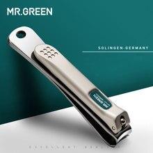 MR. GREEN кусачки для ногтей из нержавеющей стали, триммер для педикюра, кусачки для ухода за ногтями, профессиональные кусачки для ногтей в виде рыбьей чешуи, пилка для ногтей, инструменты для стрижки ногтей
