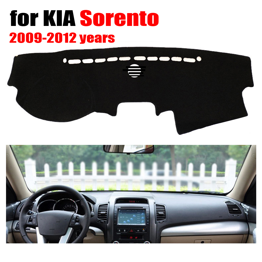RKAC Car dashboard cover mat for KIA Sorento 2009 2012 years Left hand drive dashmat pad dash covers auto dashboard accessories