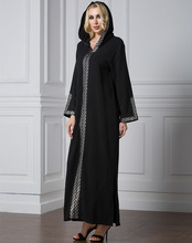 Abayas for Women Hooded Robe Plus Size 7XL  Split Dress