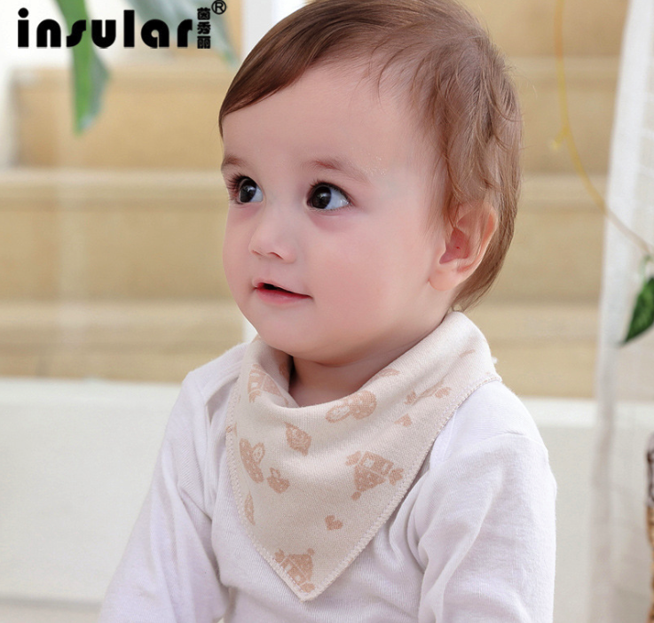 Free Shipping Baby Saliva Towel Newborn Bib Kerchief Cotton Triangular Scarf Cute Printing Soft Infant Burp Cloths