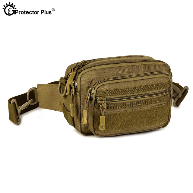 PROTECTOR PLUS Multipurpose Handbag Men Tactical Molle Messenger Bag Waterproof Military Camo Climbing Travel Waist bag Sports 1