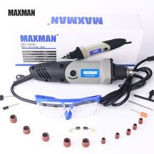 цена на MAXMAN 400W Dremel Tool Professional Electric Mini Die Grinder 0.6~6.5mm Chuck Variable Speed Rotary Tool DIY Multi Power Tools