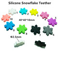 50pcs/lot BPA Free Silicone Snowflake Teether Food Grade Pacifier Dummy Pendant Necklace Baby Accessories Sensory Toy