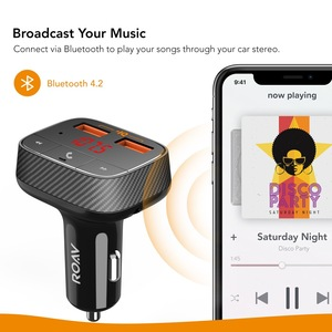 Image 5 - אנקר Roav SmartCharge F0 מטען לרכב עם FM משדר Bluetooth מקלט Bluetooth 4.2, 2 יציאות USB, powerIQ AUX פלט