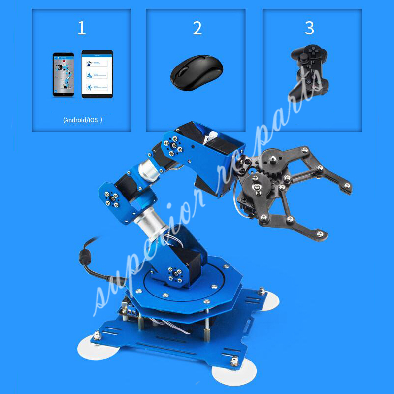 XArm 6DOF Full Metal Robotic Arm Manipulator with Scratch Arduino Remote Control for DIY Educational