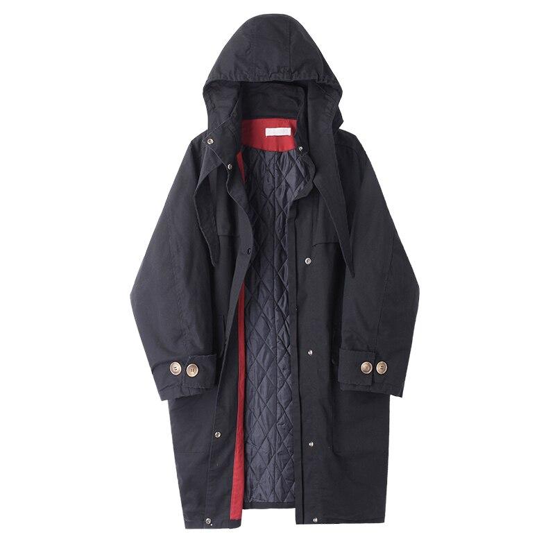 Capuchon M3b D'hiver Vêtements coréen Outillage Mode M40249 2018 Automne Nouvelle Veste À Cerise vent Long Et Matelassé De Coupe FqAxHPFrwn