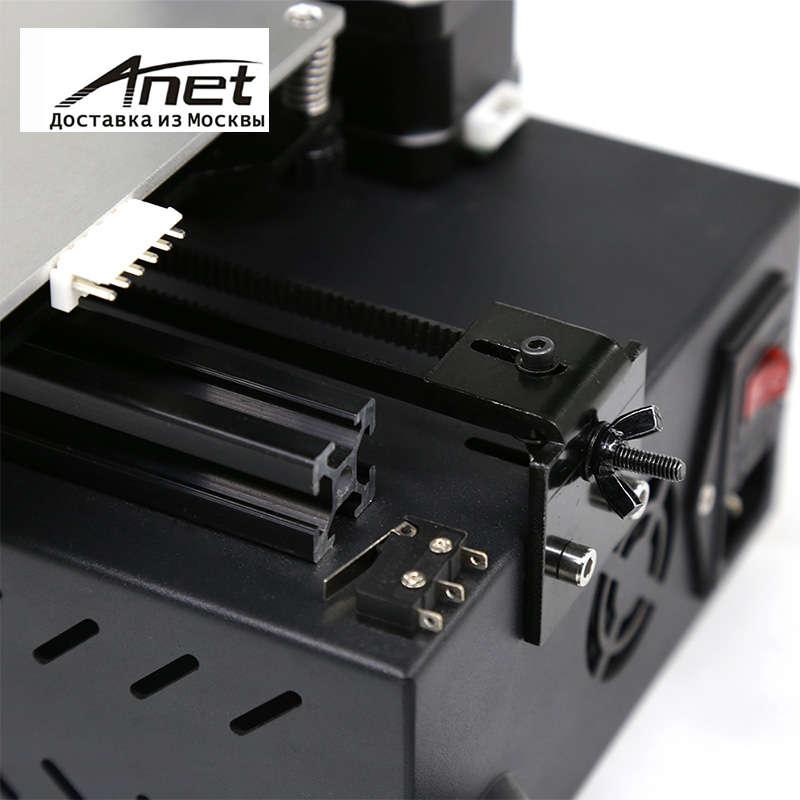 Anet A9 3D Printer Support ABS / PLA / HIPS Aluminum Alloy Frame Easy Assembly Black /aluminum hot bed LCD screen/ Express shipp