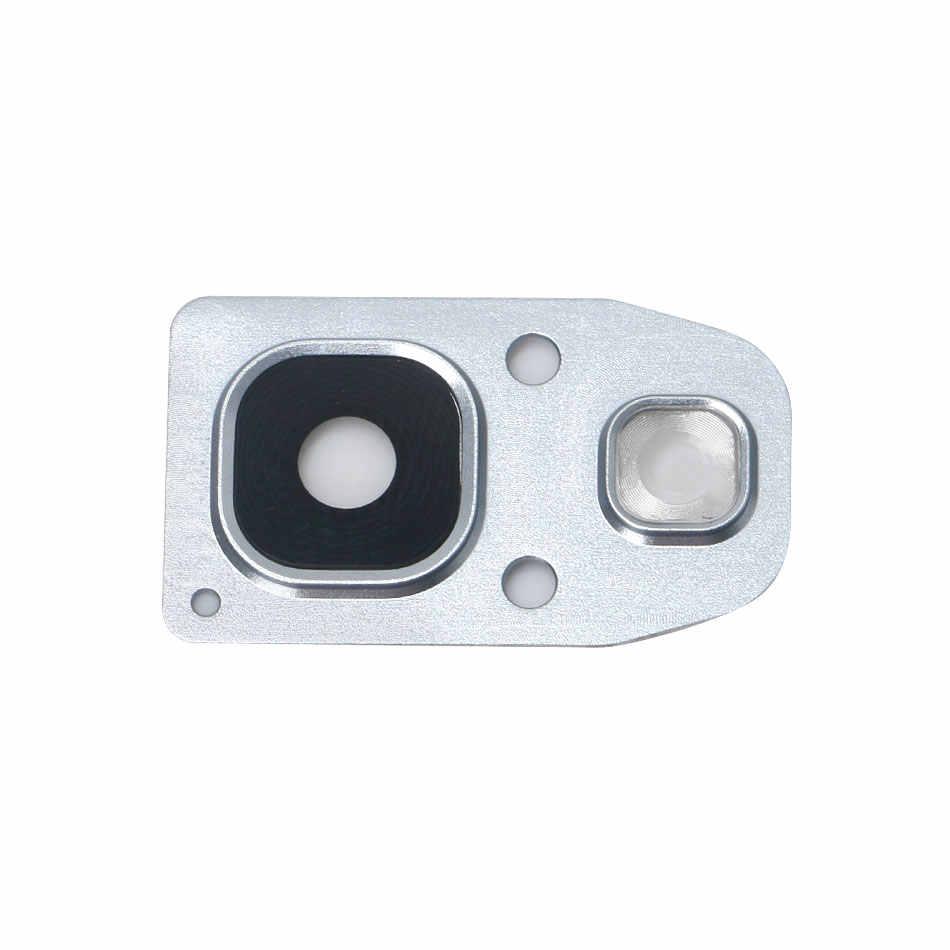 OEM カメラフレームブラケット用のガラスレンズとサムスンギャラクシー A3 2017 SM-A320 A5 2017 SM-A520 A7 2017 SM-A720 ブルー黒ゴールドピンク