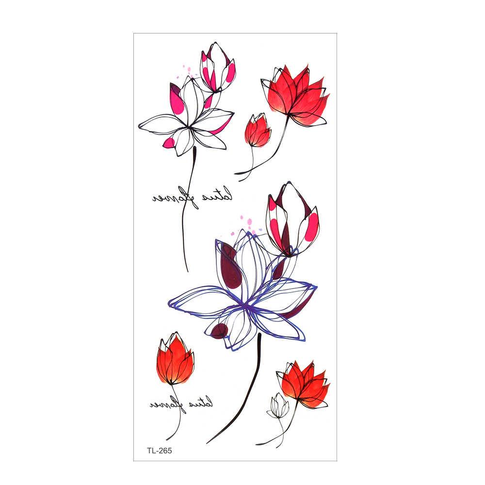 Tatuagem temporária Adesivos Arte Corporal Perna Corpo Inteiro Decalque Flor Braço À Prova D' Água de Longa Duração Design de Moda Unissex Hallowen 41 Tipos