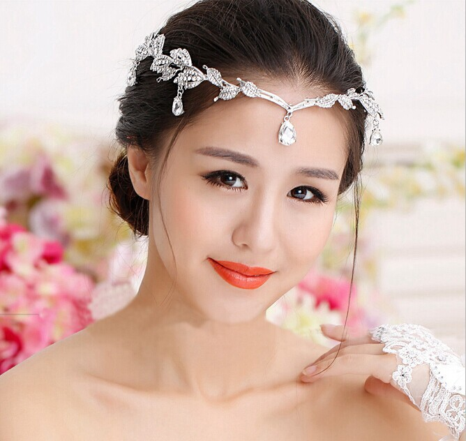 Wedding Headband Head Chain Hair Jewelry Tiara Rhinestone Tiaras And