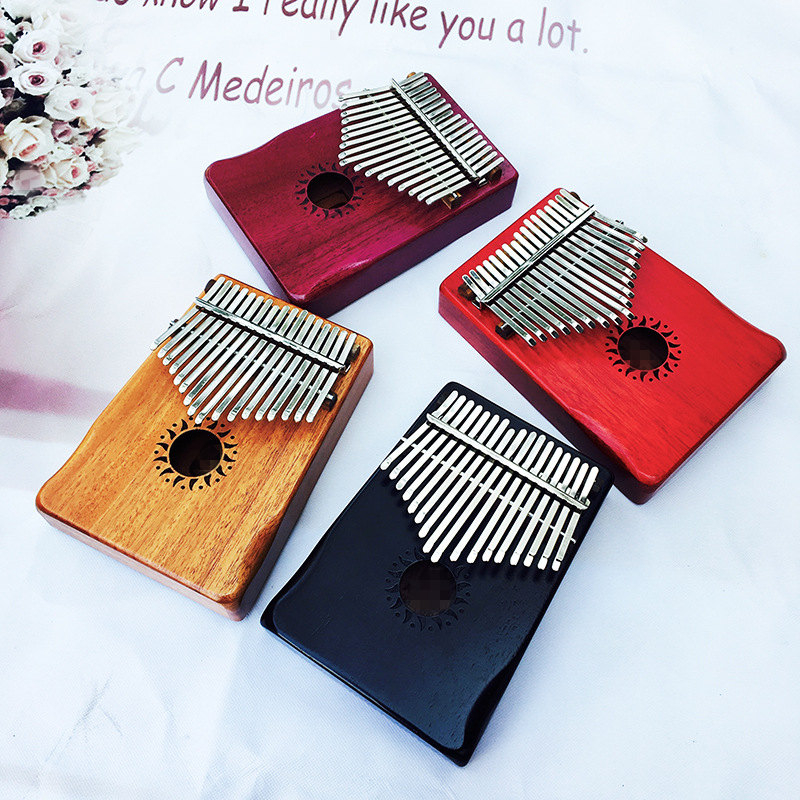 Afanti Music 17 Keys Kalimba Mbira Thumb Piano Mahogany Traditional African Music Instruments 17 Tone High Standard In Quality And Hygiene thp-129