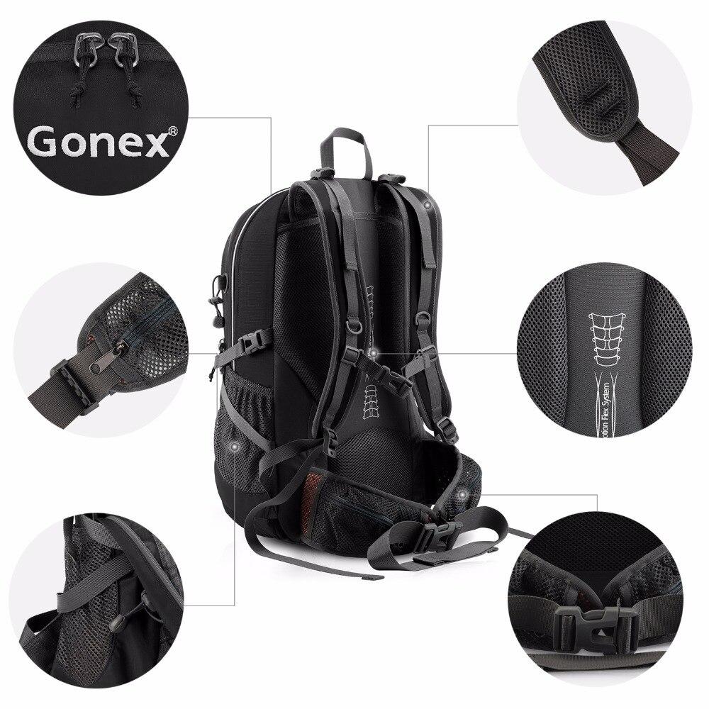 Gonex 35L sac à dos randonnée Camping extérieur Trekking sac à dos housse de pluie incluse Nylon résistant à l'eau - 4