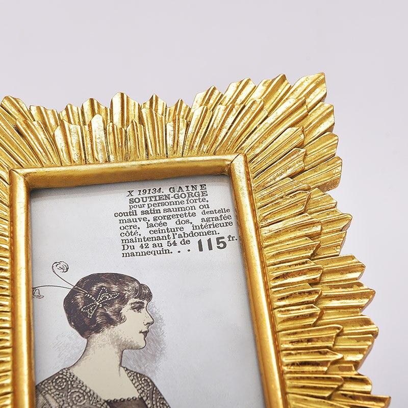 Amerikanischen stil retro gold doppelschicht strahlen linie Barock ...