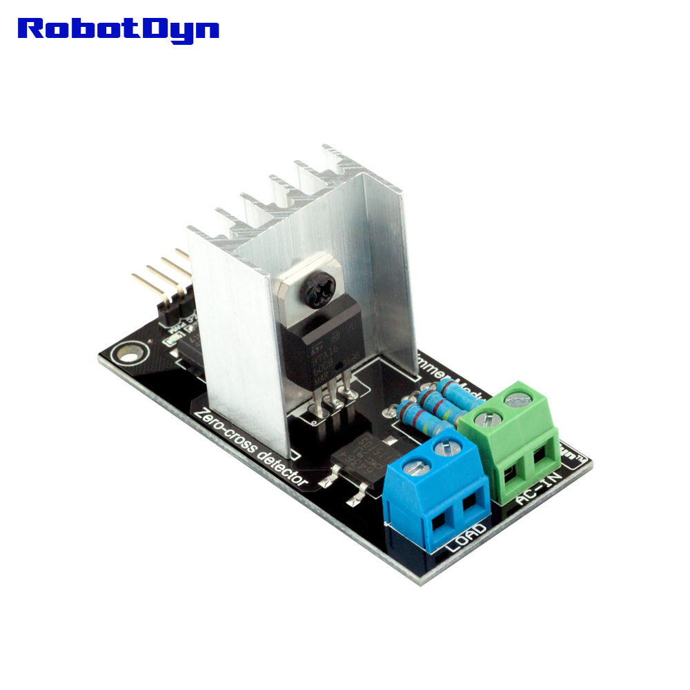 AC Light Dimmer Module for PWM control, 1 Channel, 3.3V/5V logic, AC 50/60hz, 220V/110V