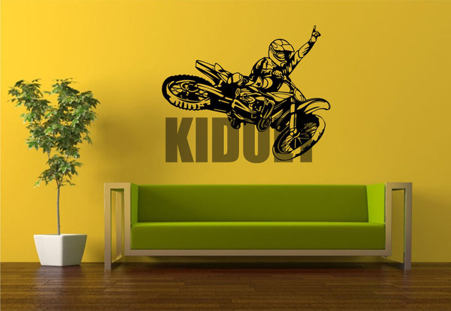 Motorcycle Wall Stickers Vinyl Creative Coasters Off road ...
