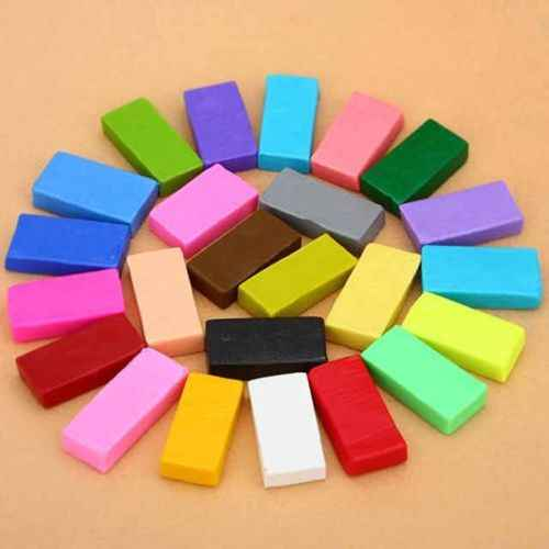 12/24/32 Colorful Soft Polymer Plasticine Fimo Effect Clay Blocks Educational C42