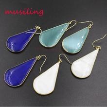 musiling Water Drop Dangle Earrings Natural Stone Cats Eye Charms Earring Fashion Jewelry for Women