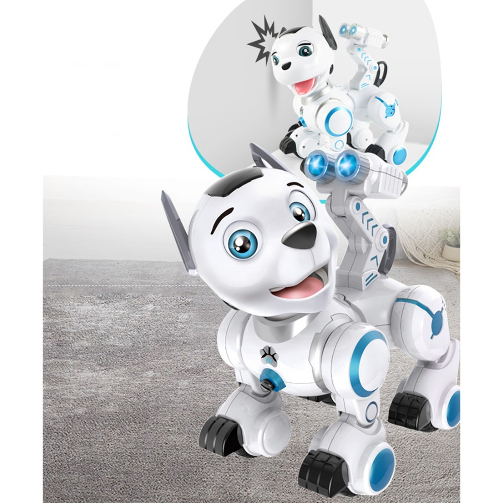 fisca Remote Control Robotic Dog RC Interactive Intelligent Walking Dancing Programmable Robot Puppy Toys Electronic Pets with Light and Sound for Kids Boys Girls Age 6, 7, 8, 9, 10 and Up Year Old 1