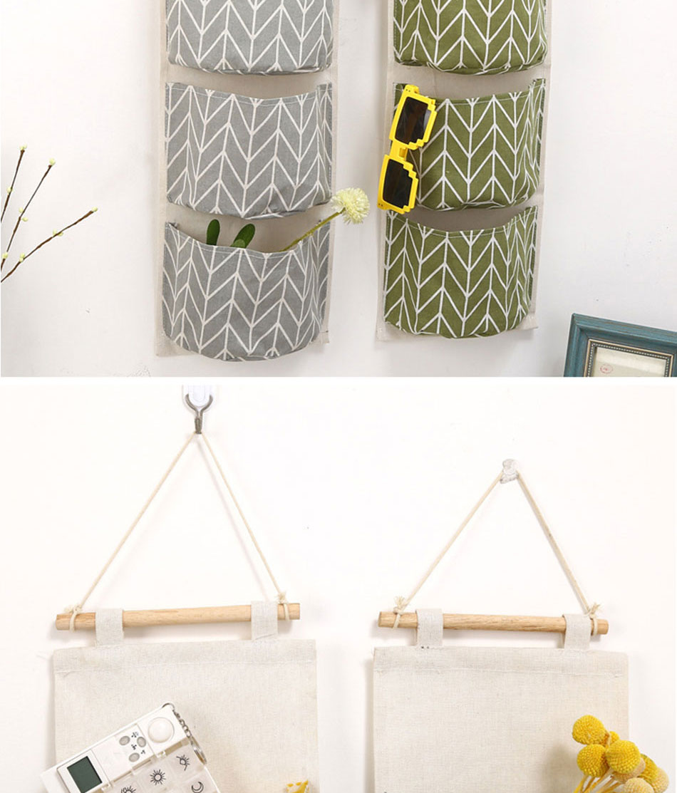 Cute Wall Sundry Cotton Line Hanging Organizer Bag Multi-layer Holder Makeup Rack Jewelry Storage Box Basket Home Decoration (4)