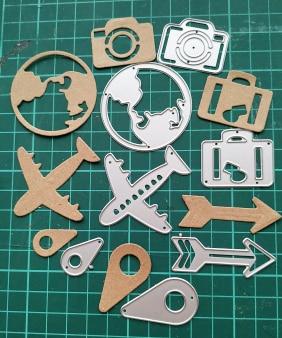 Mini Aircraft Metal Cutting Dies Stencil for DIY Scrapbooking Album Paper CardSP