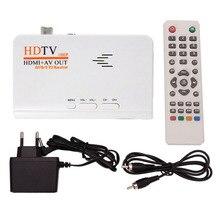 OOTDTY DC 5V/1A Digital HDMI HD AV 1080P DVB-T-T2 TV Box USB Receiver with Remote Control EU Plug