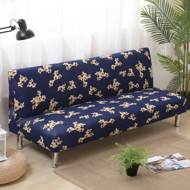 Pieghevole divano copre elastico senza bracciolo copridivano divano copertura per divano letto - Cuscino per divano ...