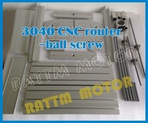 Image 5 - EU Ship free VAT DIY 3040 CNC router Engraver Engraving milling machine mechanical aluminium Frame SFU1204 ballscrew CNC Kit