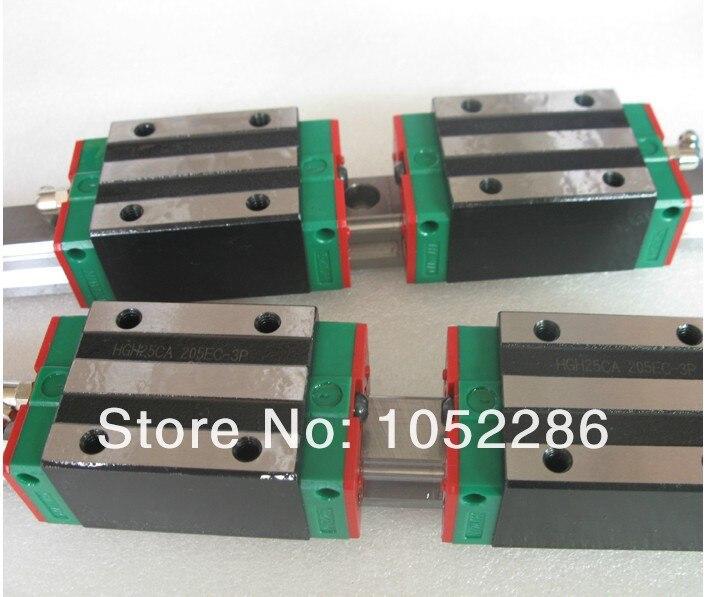 2pcs 100% original Hiwin HGR20-2000mm linear guide+4pcs HGH20CA narrow blocks for cnc hiwin linear guide hgr20 3500mm 2pcs hgr20 2000mm 2pcs hgr20 400mm 2pcs hgh20 12pcs