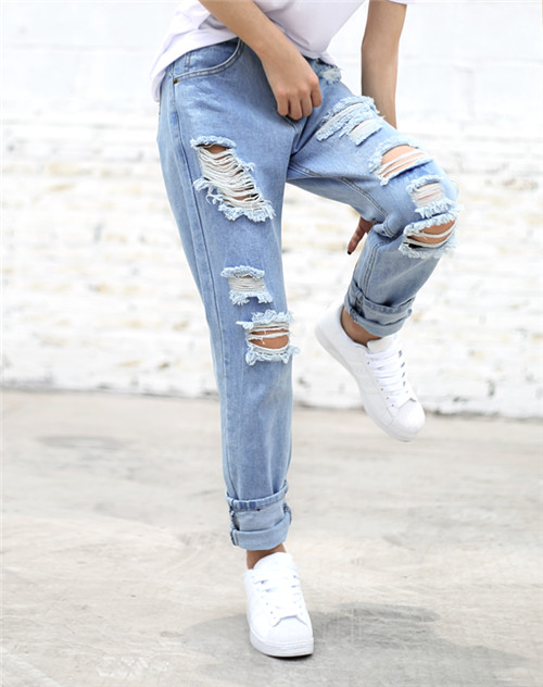 Aliexpress.com : Buy Chic Chat High Fashion Ripped Jeans Women ...