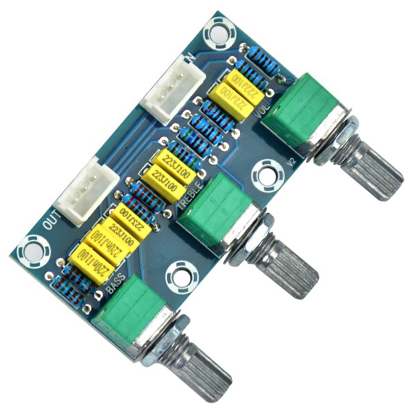 Tube Amplifiers Audio Amplificador Preamp Tone Board Hifi Bass Treble Volume Control Board 3-Channel Subwoofer 2 1 Amplifier